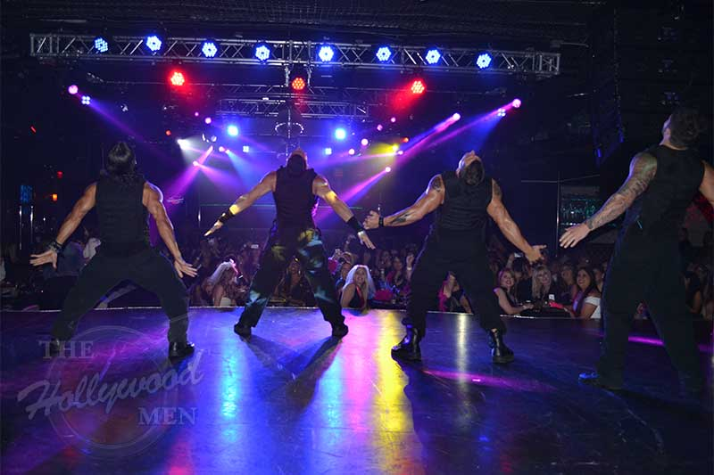The Hollywood Men strippers at OHM stage dance