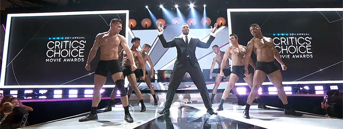 male strippers open 2015 critics choice movie awards