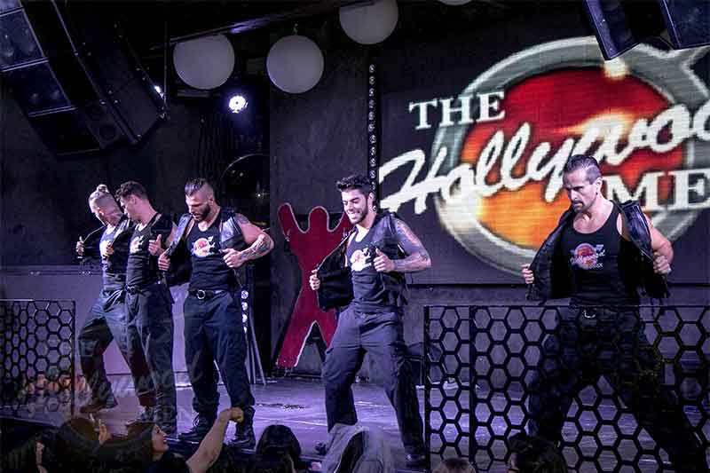 The Hollywood Men strippers on LURE stage