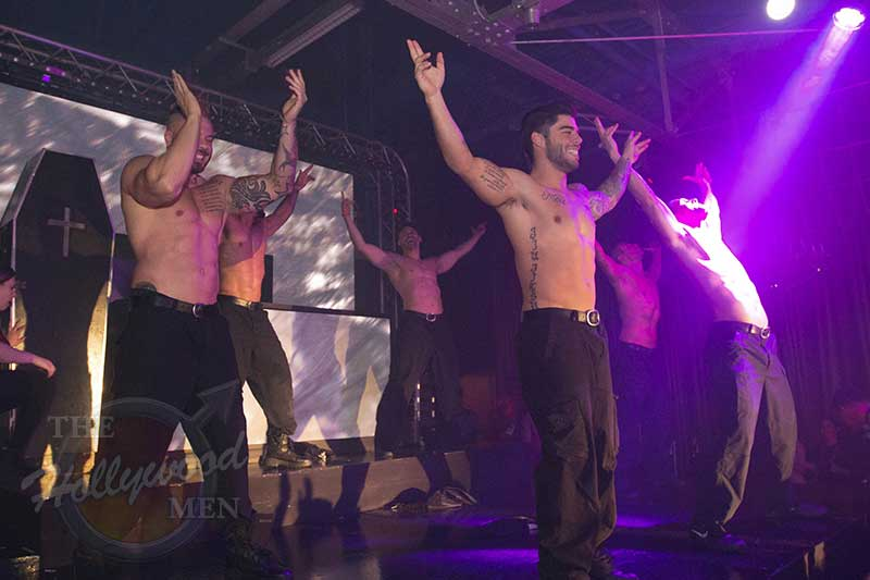 The Hollywood Men strippers on METROPOLITAN stage