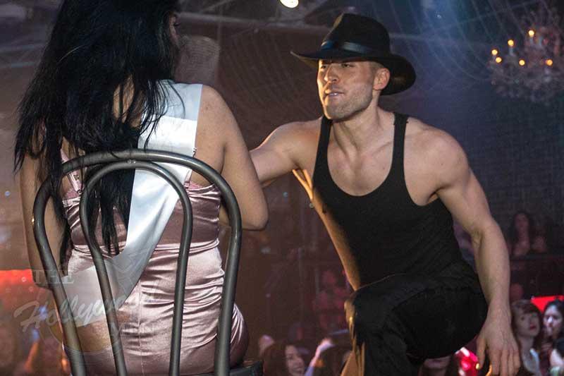 Man's World strip act starring Tyler