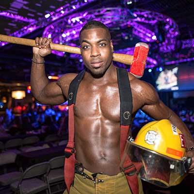 Ricky as a fireman stripper