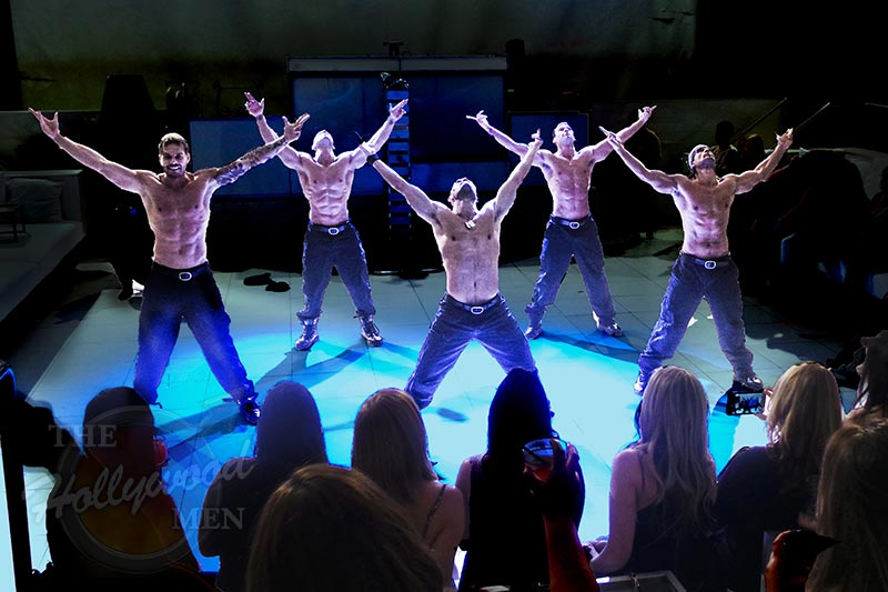 The Hollywood Men strippers on SUPPERCLUB stage