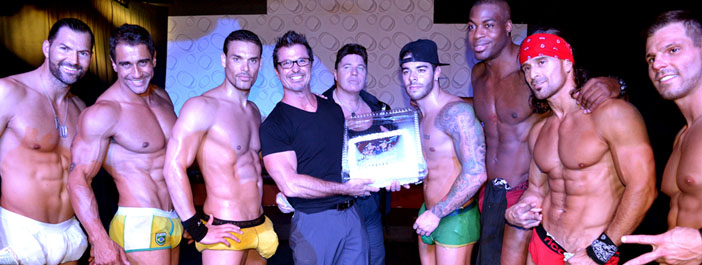 Bday bash for Scott Layne at The Hollywood Men