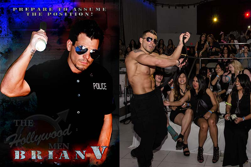 Cop strip act starring Brian V