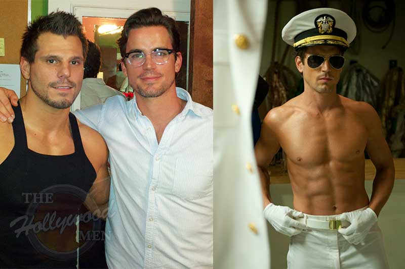 Matt Bomer who stars in Magic Mike is backstage learning from Brian V of The Hollywood Men