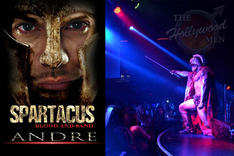Gladiator strip act starring Andre