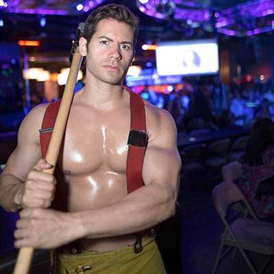 Paolo as a fireman stripper