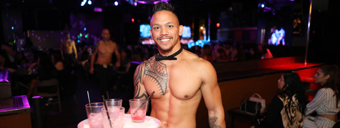 male stripper waiter